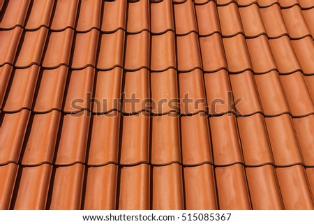 roof tile pattern, close up texture for construction industry