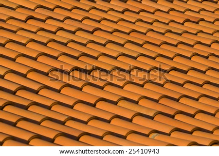 Roof tiles in Albufeira Portugal - landscape orientation