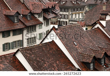 Roofs of Bern Capital of Switzerland