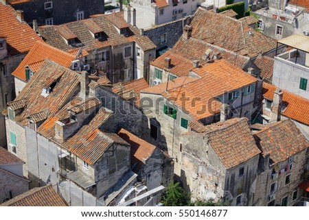 Rooftops in Split, Croatia