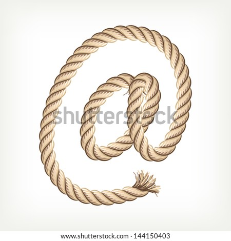 Rope e-mail. Raster version. Vector is also available in my gallery