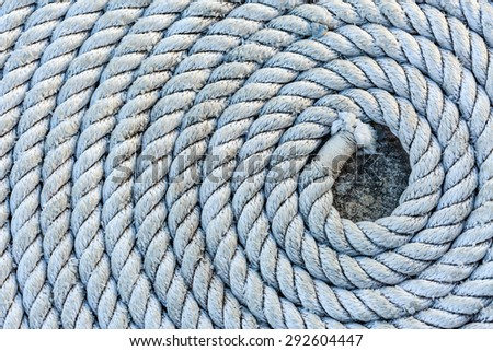 Rope folded into a spiral