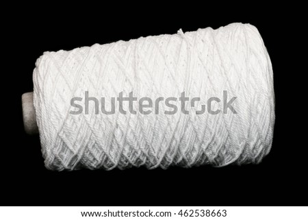 Rope roll isolated on black background