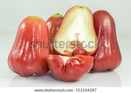 Rose apples or sell print market chomphu fruit