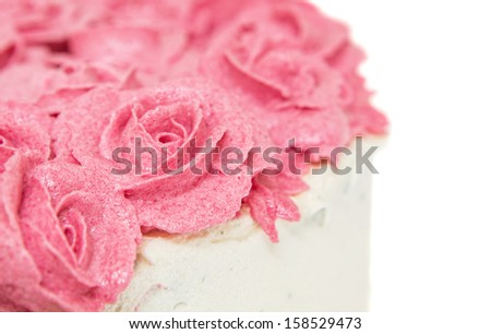 Rose flower shape strawberry frosting