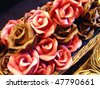 Roses of chocolate - stock photo