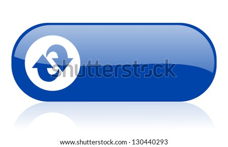 rotate blue web glossy icon