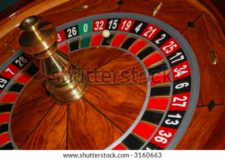 Roulette table in action. Shot from a real casino 4