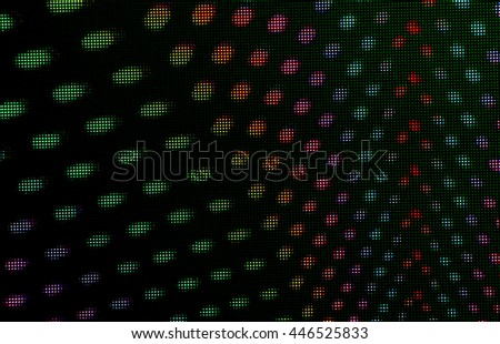Round colored lights used in nightclubs and concert lighting.