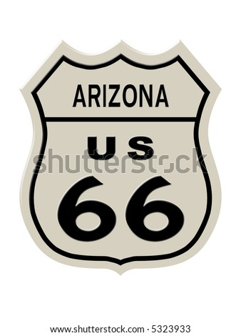 Route 66 Sign Missouri State High Stock Illustration