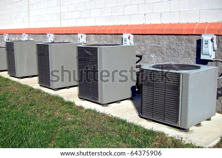 Heating Ac Unit Used Residential Home Stock Photo