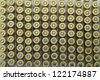 rows of  rifle ammunition - stock photo