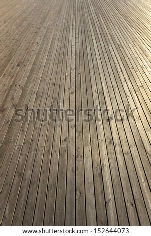 Rows of wooden planks - perspective view.