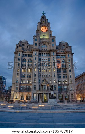 Royal Liver Building at Night