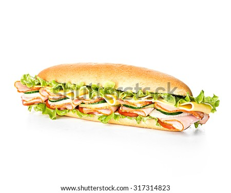 Royal sandwich isolated on a white background