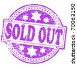 "Rubber stamp illustration showing ""SOLD OUT"" text - stock photo"