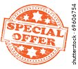 "Rubber stamp illustration showing ""SPECIAL OFFER"" text - stock vector"