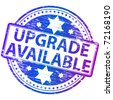 "Rubber stamp illustration showing ""UPGRADE AVAILABLE"" text - stock vector"