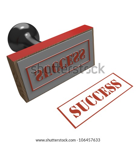 Rubber Stamp on a white background with message of Success
