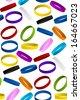 Rubber Wristband Bracelet Seamless Pattern Background - stock photo