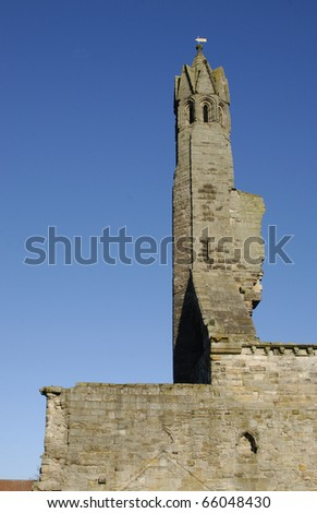 Ruins of St.Andrews Cathedral,St.Andrews, Fife, Scotland