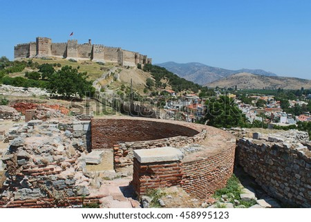 Ruins of st. Johns Basilica at Ayasuluk Hill in Selcuk, Ephesus, Turkey
