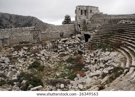 Ruins of theater in Termessos