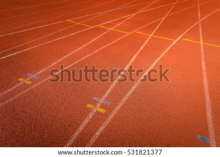 Running track outdoors