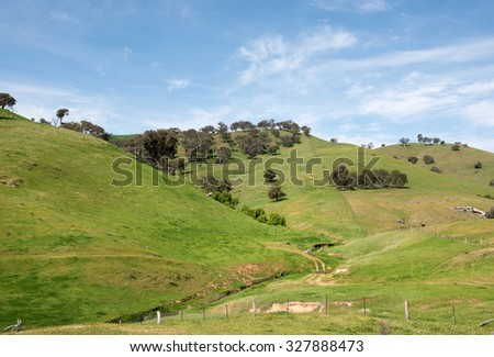 Rural farmland, in Southern New South Wales, Australia