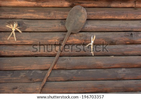 Rural wooden house wall