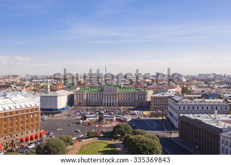Russia city of St Petersburg