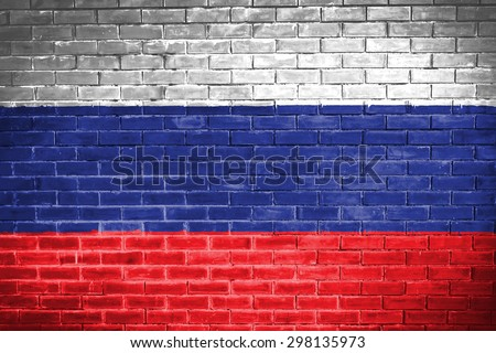 russia flag,wall texture background