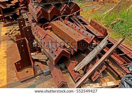 Rust steel angles for raw material of steel tower in transmission line