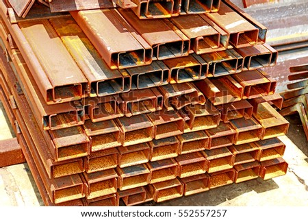 Rust steel channel for raw material in transmission line
