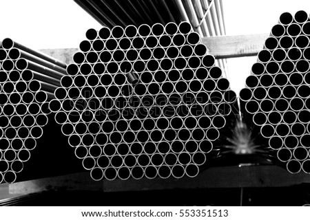 Rust steel pipes for raw material of steel tower in Transmission line