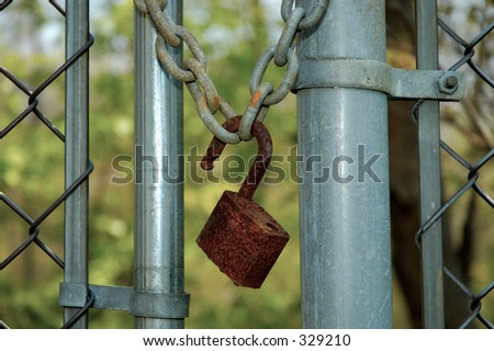 Rusted Lock and Chain