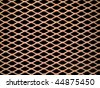 Rusted metal grate securing a tunnel hole - stock photo
