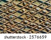 Rusted metal plate closeup - stock photo