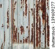 rusty metal wall - stock photo