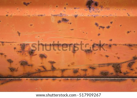 Rusty red metal background texture.