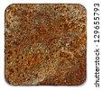 Rusty square - stock photo