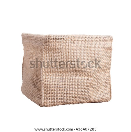 Sack box on isolated white background.