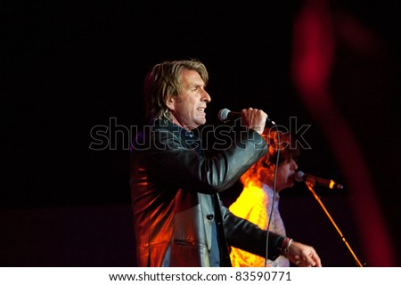 SACRAMENTO, CA - AUG 26: Cy Curnin of The Fixx performs at Thunder Valley Casino in Lincoln, California on August 26th, 2011