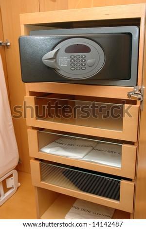 Safe Box In A Hotel Room Closet