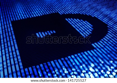 Safe Lock Digital Illustration - Online Transaction Safety / Password Key - Illustration.