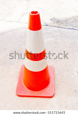 safety red plastic cone symbol