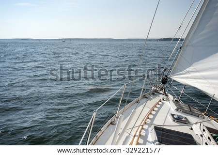 Sailboat on Casco Bay, Maine