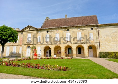 SAINT-EMILION, FRANCE - JUNE 03: Beautiful streets in Saint-Emilion on June 03, 2016 in Saint-Emilion, France.