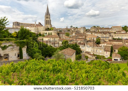 Saint Emilion French village, Unesco heritage, famous for its wine.