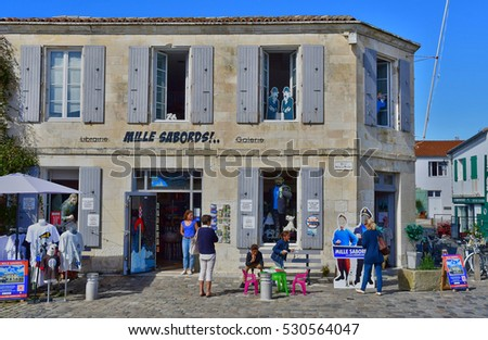Saint Martin de Re, France - september 25 2016 : the picturesque village in the middle of the island